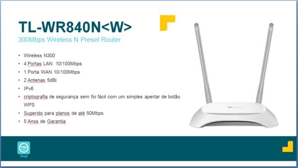 TL-WR840N W – Planos Até 50 Mbps